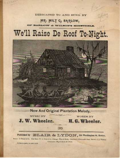 Sheet Music - We'll raise de roof tonight; New and original plantation melody