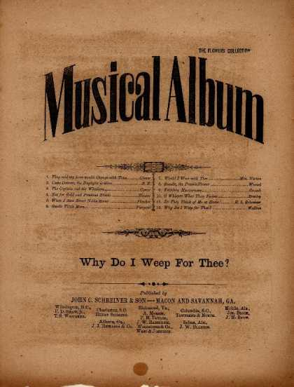 Sheet Music - Why do I weep for thee?