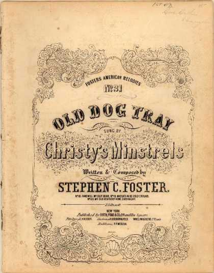 Sheet Music - Old Dog Tray