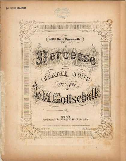 Sheet Music - Berceuse; Cradle song