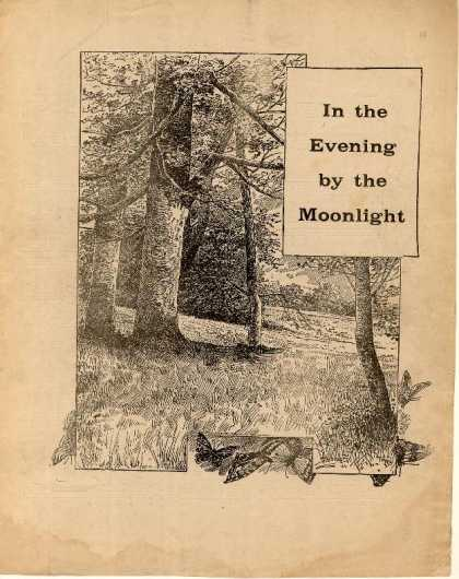 Sheet Music - In the evening by the moonlight