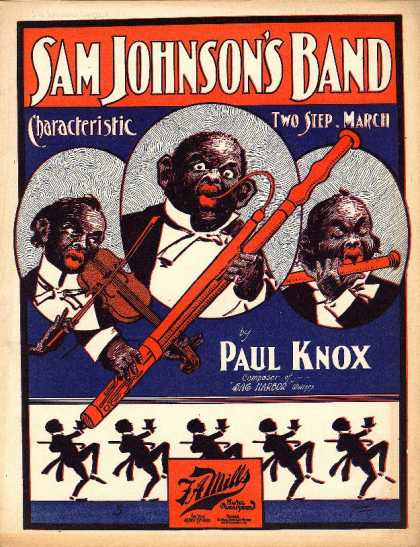 Sheet Music - Sam Johnson's band; Characteristic two step march
