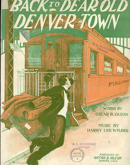 Sheet Music - Back to dear old Denver town