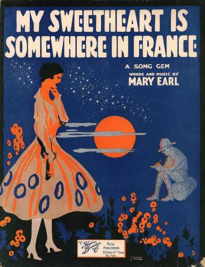 Sheet Music - My sweetheart is somewhere in France