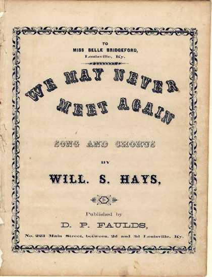 Sheet Music - We may never meet again