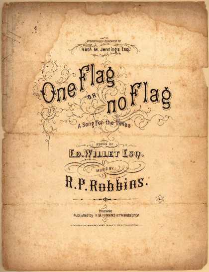 Sheet Music - One flag or no flag