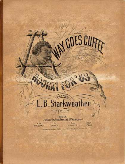 Sheet Music - Away goes Cuffee; Hooray for '63