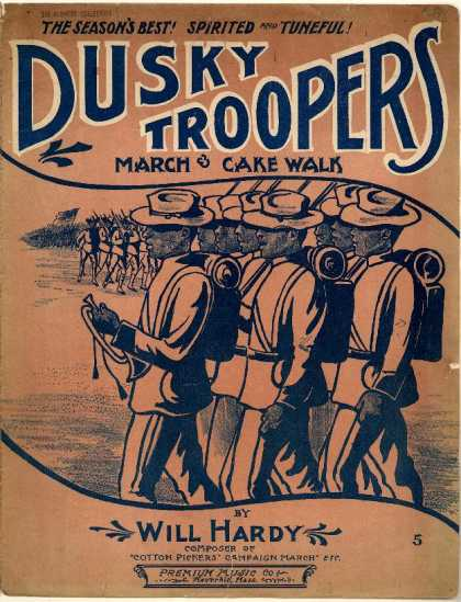 Sheet Music - Dusky troopers march & cake walk