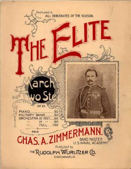 Sheet Music - Elite march and two step; Op. 65