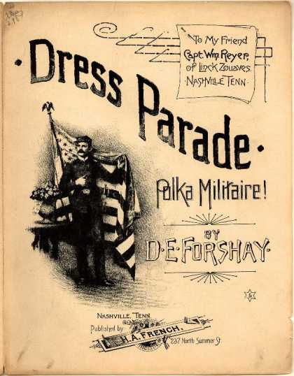Sheet Music - Dress parade; Polka militaire