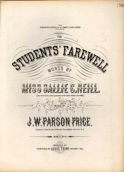 Sheet Music - The students' farewell