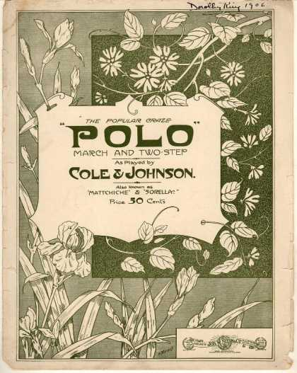 Sheet Music - Polo; March and two-step
