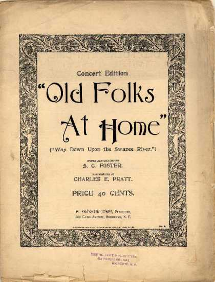 Sheet Music - Old folks at home; Way down upon the Swanee river