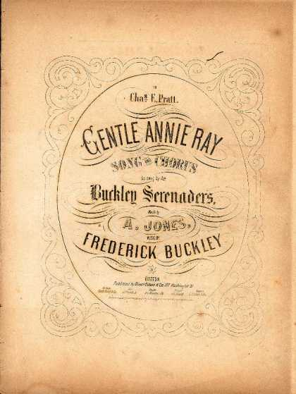 Sheet Music - Gentle Annie Ray