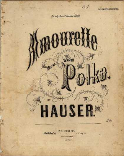 Sheet Music - Amourette or Mount Vernon polka; Mount Vernon polka