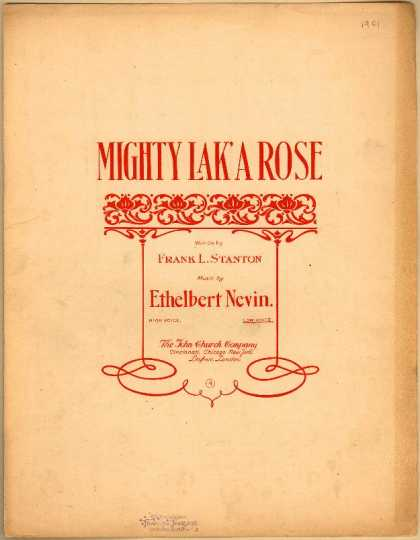 Sheet Music - Mighty lak' a rose