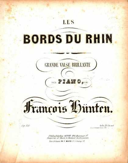 Sheet Music - Les bords du Rhin; Grande valse brillante; Op. 120