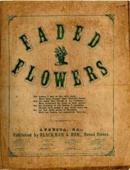 Sheet Music - Faded flowers