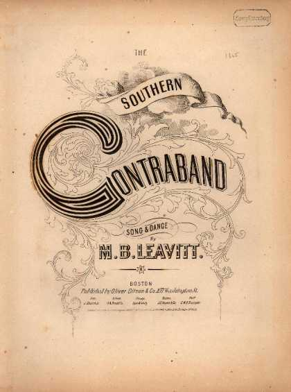 Sheet Music - The southern contraband
