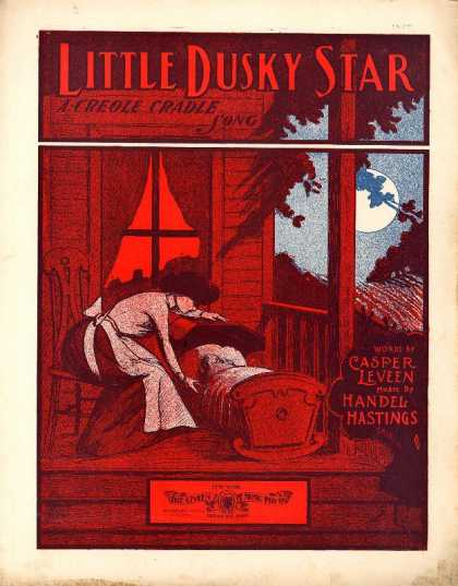 Sheet Music - Little dusky star; Creole cradle song