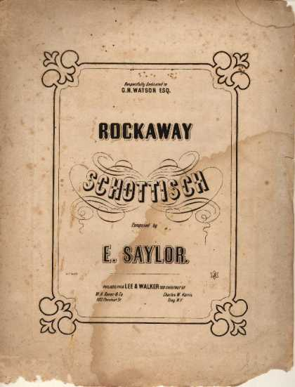 Sheet Music - Rockaway schottisch