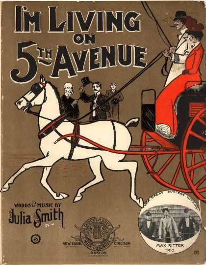 Sheet Music - I'm living on 5th Avenue