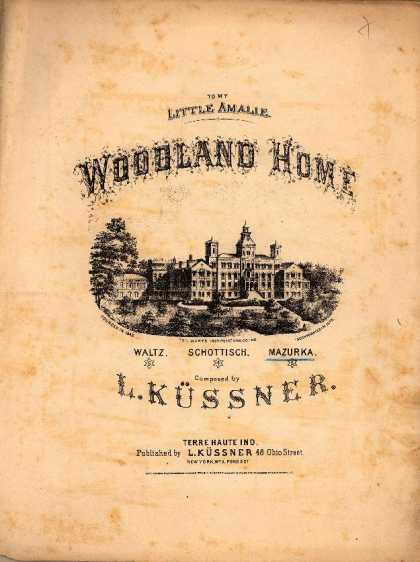 Sheet Music - Woodland home; Mazurka