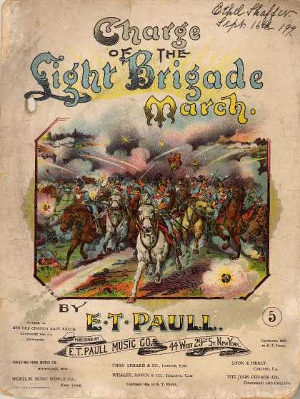 Sheet Music - Charge of the light brigade march
