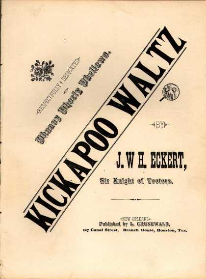Sheet Music - Kickapoo waltz