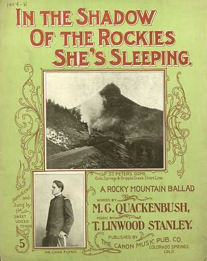 Sheet Music - In the shadow of the Rockies she's sleeping