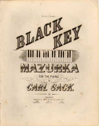 Sheet Music - Black key mazurka