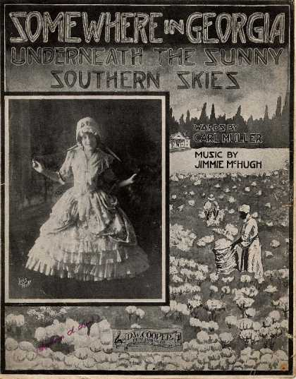 Sheet Music - Somewhere in Georgia underneath thee sunny Southern skies