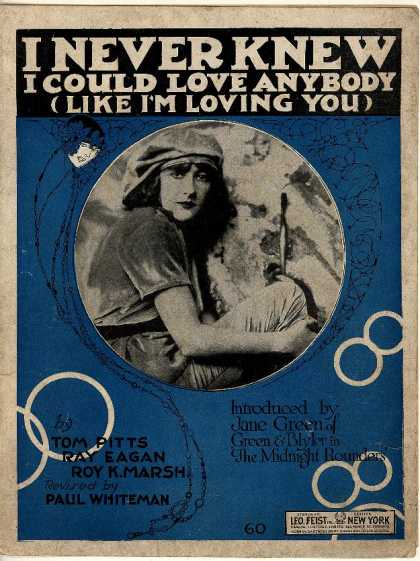 Sheet Music - I never knew I could love anybody like I'm loving you; Society fox trot; Je ne s