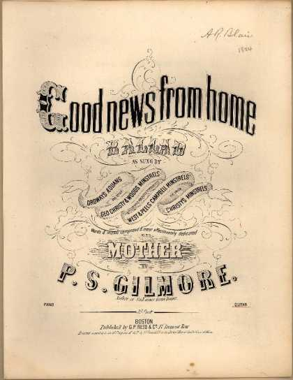 Sheet Music - Good news from home