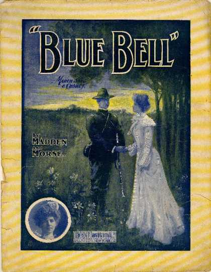 Sheet Music - Blue bell march song and chorus