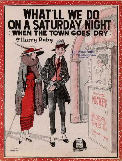 Sheet Music - What'll we do on a saturday night (when the town goes dry)