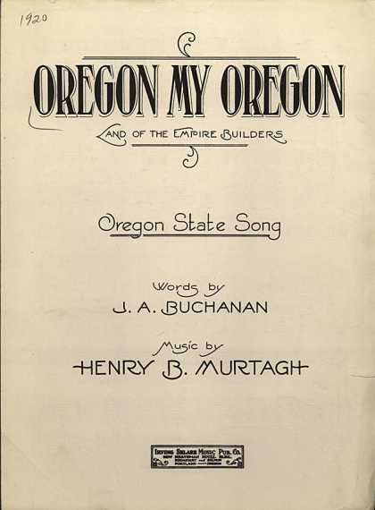 Sheet Music - Oregon, my Oregon