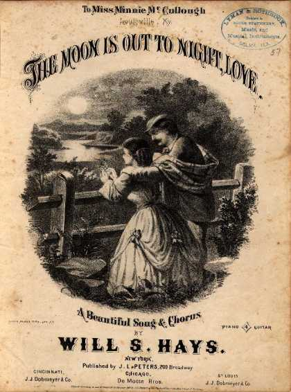 Sheet Music - The moon is out to night, love