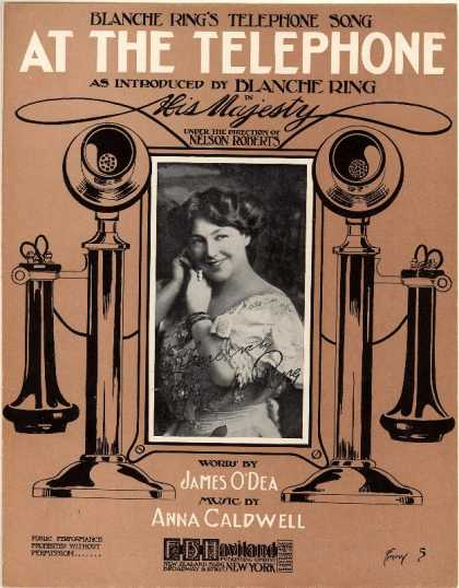 Sheet Music - At the telephone; Blanche Ring's telephone song; His Majesty