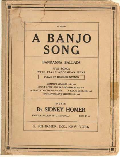 Sheet Music - Banjo song; Bandanna ballads; Op. 22, no. 4