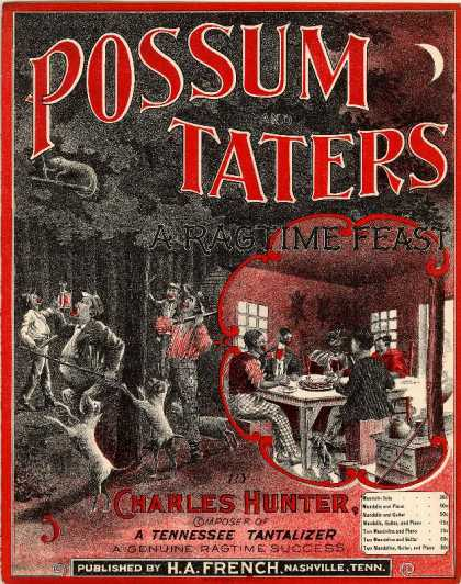Sheet Music - Possum and taters: Ragtime feast