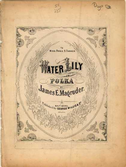 Sheet Music - Water lily polka