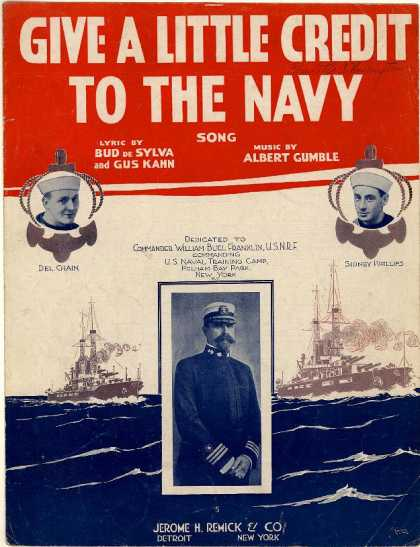 Sheet Music - Give a little credit to the Navy