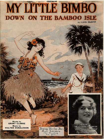 Sheet Music - My little bimbo; Down on the bamboo isle; Silks and satins