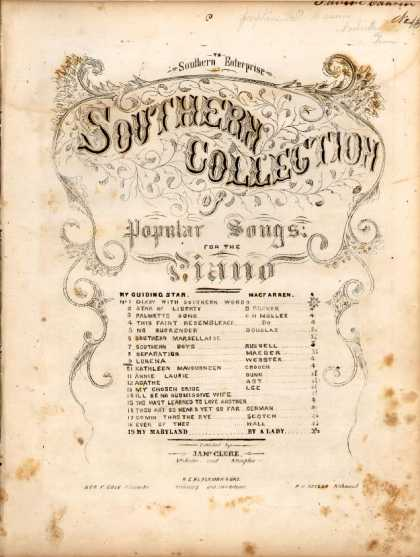 Sheet Music - Lorena