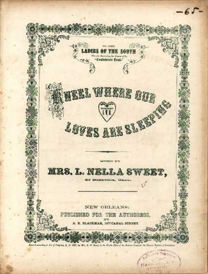 Sheet Music - Kneel where our loves are sleeping