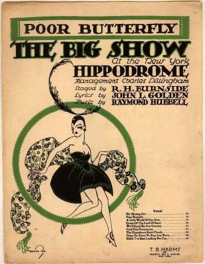 Sheet Music - Poor butterfly; The big show