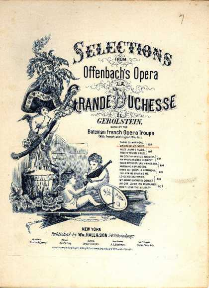 Sheet Music - Sword of my father; Sabre de mon pere; Grande duchessede Gerolstein