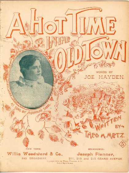 Sheet Music - A hot time in the old town