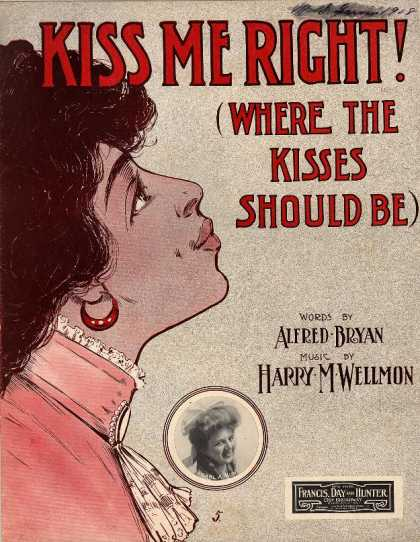 Sheet Music - Kiss me right! Where the kisses should be